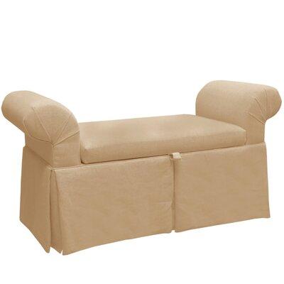 Upholstered Storage Bench Color: Ricepaper