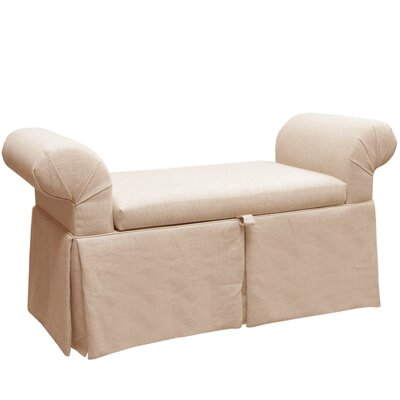 Upholstered Storage Bench Color: Ivory