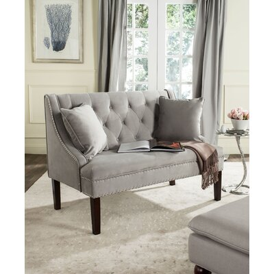 Beaulah Upholstered Bench Upholstery Color: Grey
