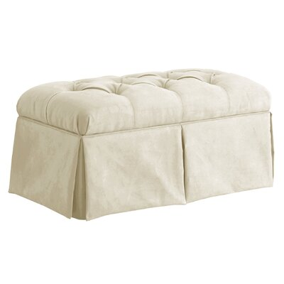 Deville Fabric Storage Bench Color: Antique White