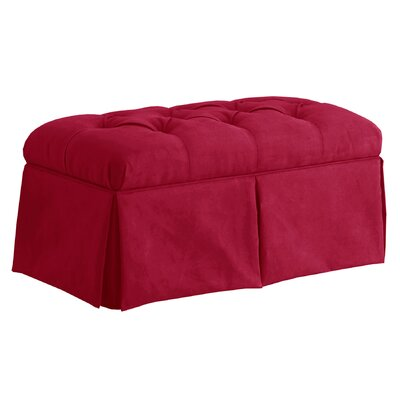Deville Fabric Storage Bench Color: Sangria