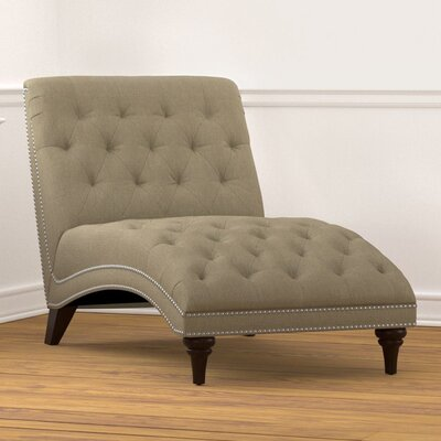 Cordella Chaise Lounge Upholstery: Linen Taupe