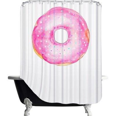Palladium Doughnut Shower Curtain Color: Pink