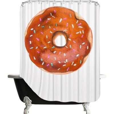 Palladium Doughnut Shower Curtain Color: Chocolate