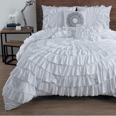 queen white comforter set