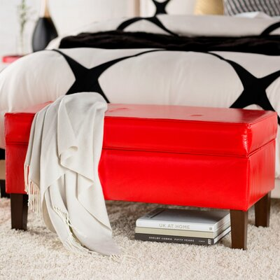 Upholstered Storage Bench Color: Red