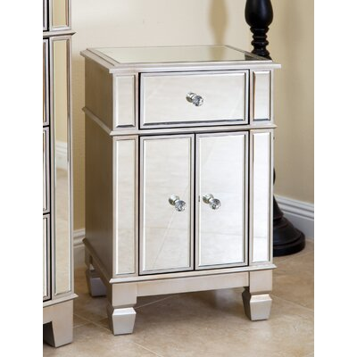 Stine Mirrored Accent Cabinet