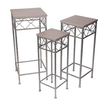 Kamiska 3 Piece Square Plant Stand Set