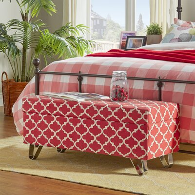 Chesham Wood Storage Ottoman Upholstery Color: Samba Red