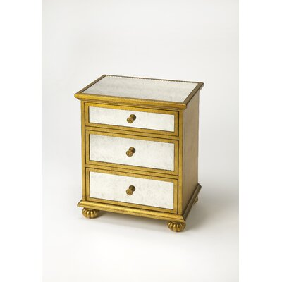 Schanz Grable 3 Drawer Chest Color: Gold