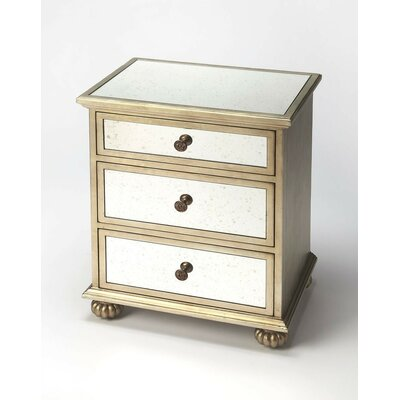 Schanz Grable 3 Drawer Chest Color: Silver