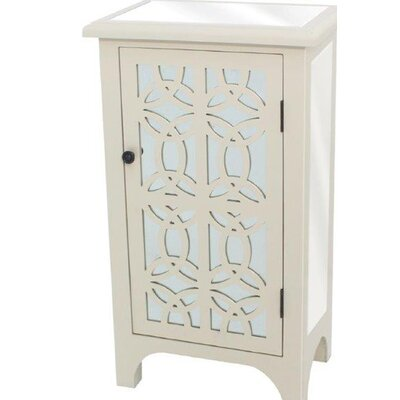 Charisse 1 Door Accent Cabinet Color: White