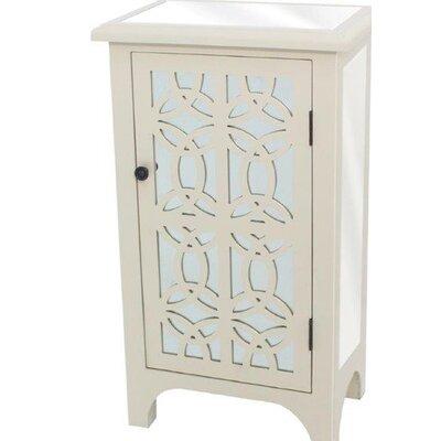 Charisse 1 Door Accent Cabinet Color: White