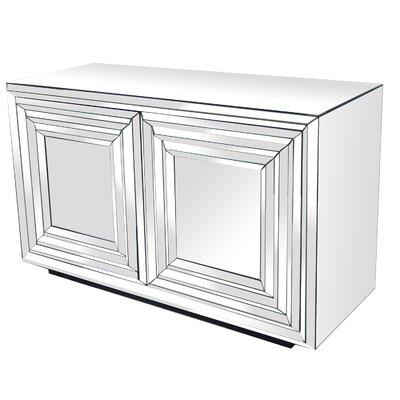 Brogel 2 Door Mirrored Accent cabinet
