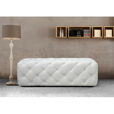 Gertz Leather Bench Upholstery Color: White