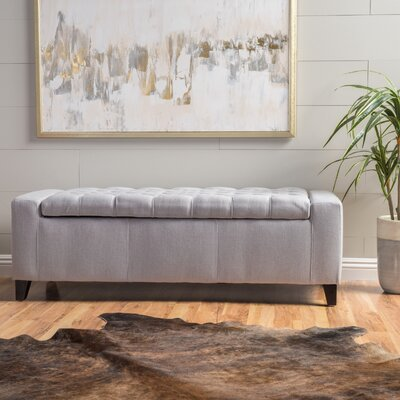 Ilchester Upholstered Storage Bench Upholstery: Light Gray