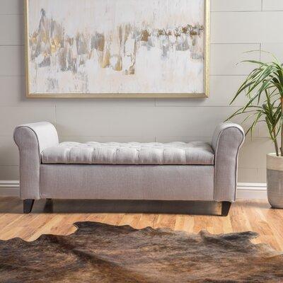 Havelock Upholstered Storage Bench Upholstery: Light Gray