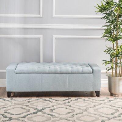 Ilchester Upholstered Storage Bench Upholstery: Light Sky