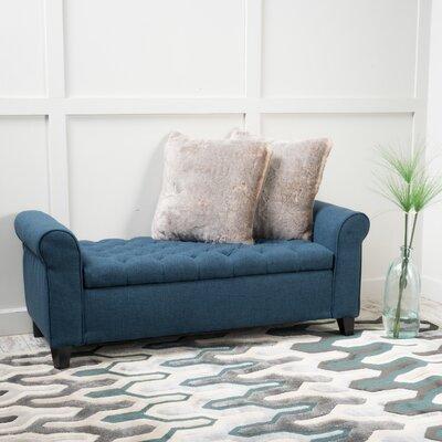 Havelock Upholstered Storage Bench Upholstery: Dark Blue