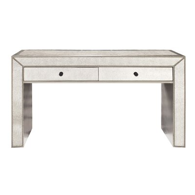 Chastain Antiqued Mirrored Console Table