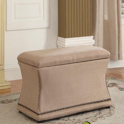 Porter Upholstered Storage Bench Upholstery: Beige