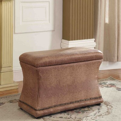 Porter Upholstered Storage Bench Upholstery: Brown