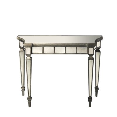 Fanning Console Table Color: White