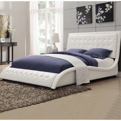 Wickstrom Queen Upholstered Platform Bed Color: White