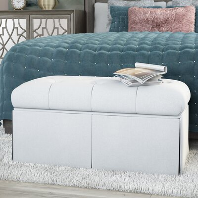 Tracy Upholstered Bench Color: White