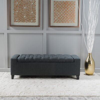 Ilchester Upholstered Storage Bench Upholstery: Dark Gray