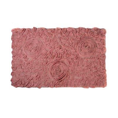 Loganne Solid Bath Rug Color: Pink
