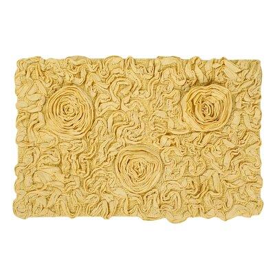 """Pascoe Bath Rug Color: Butter, Size: 21"""" W x 34"""" L"""