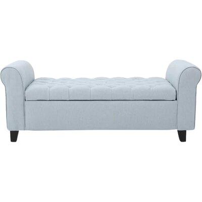 Havelock Upholstered Storage Bench Upholstery: Light Sky