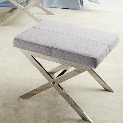 Harter Vanity Stool Color: Gray