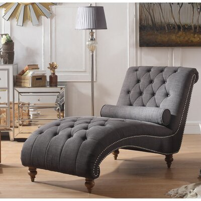 Yarmouth Chaise Lounge Upholstery: Charcoal