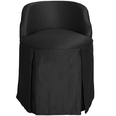 Zanuck Vanity Chair Color: Black