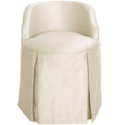 Zanuck Vanity Chair Color: Pearl