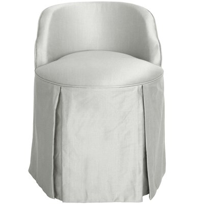 Zanuck Vanity Chair Color: Silver