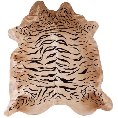 Doris and Boris Tiger Hand-Woven Cream/Black Area Rug