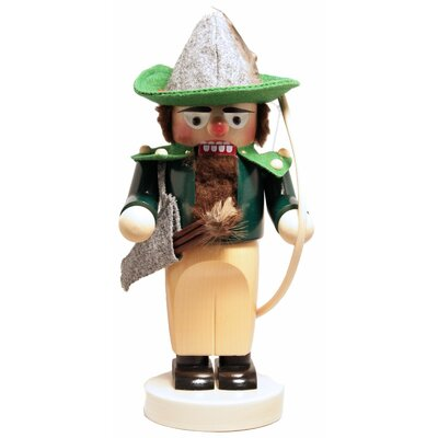Steinbach Signed Chubby Robin Hood with Bow German Wooden Christmas Nutcracker