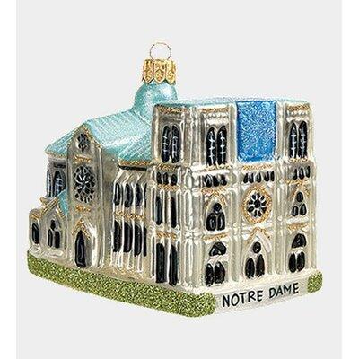 Pinnacle Peak Glass Notre Dame Cathedral Paris France Christmas Ornament