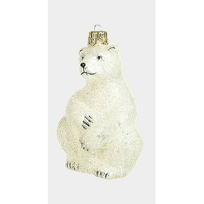 Pinnacle Peak Glass Polar Bear Wildlife Christmas Ornament