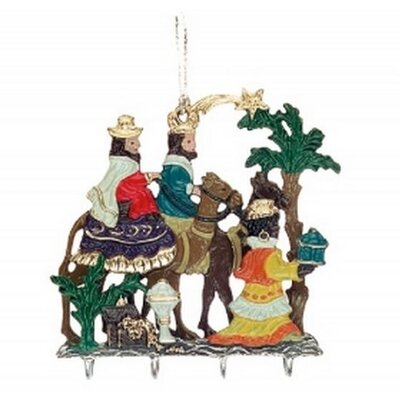 The Three Kings with Presents Christmas Double Sided German 3D Pewter Ornament