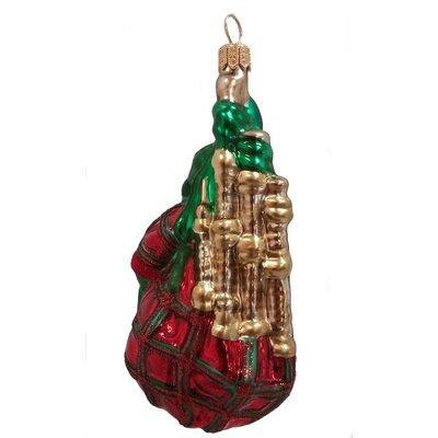 Bagpipe Polish Mouth Blown Glass Christmas Ornament