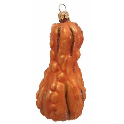 Squash Polish Mouth Blown Glass Christmas Ornament Color: Orange