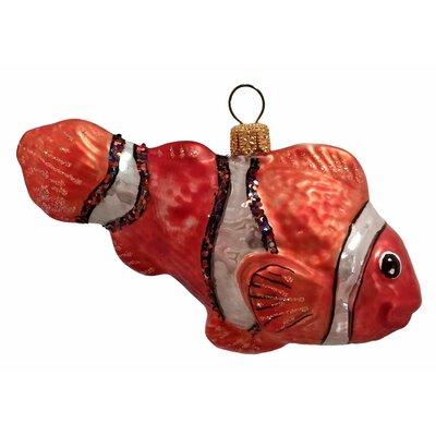 Clownfish Polish Mouth Blown Glass Christmas Ornament
