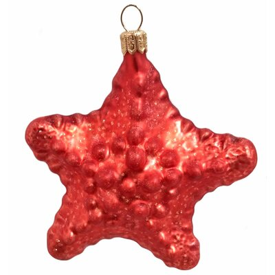 Starfish Polish Mouth Blown Glass Christmas Ornament
