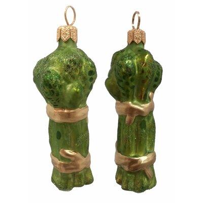 Asparagus Polish Mouth Blown Glass Christmas Ornament
