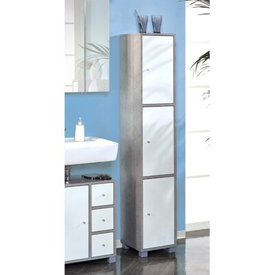 Schildmeyer Hansen 31 x 167cm Mirrored Free Standing Tall Bathroom Cabinet