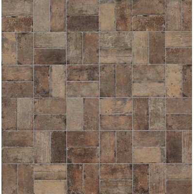 "Chicago Brick 8"" x 16"" Porcelain Mosaic Tile in State Street"